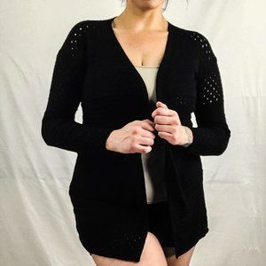 👚Sweater 2/$25👕 Black Open Front Cardigan Size M